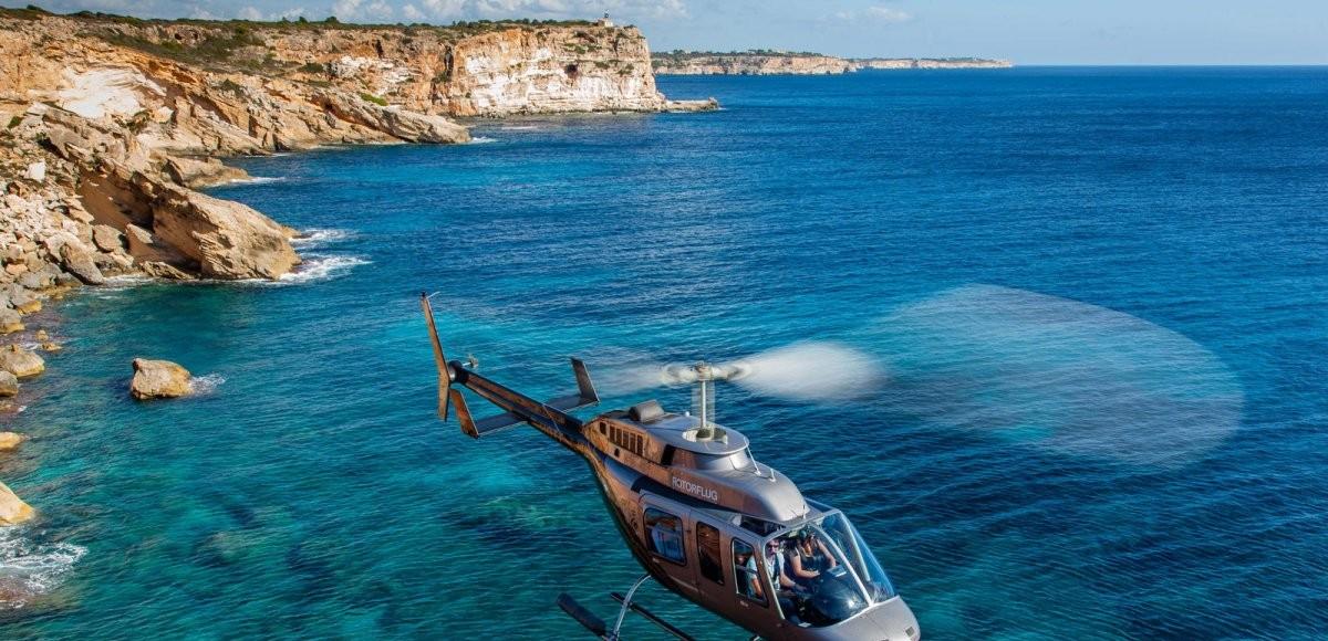 Bekijk Mallorca vanuit een helikopter
