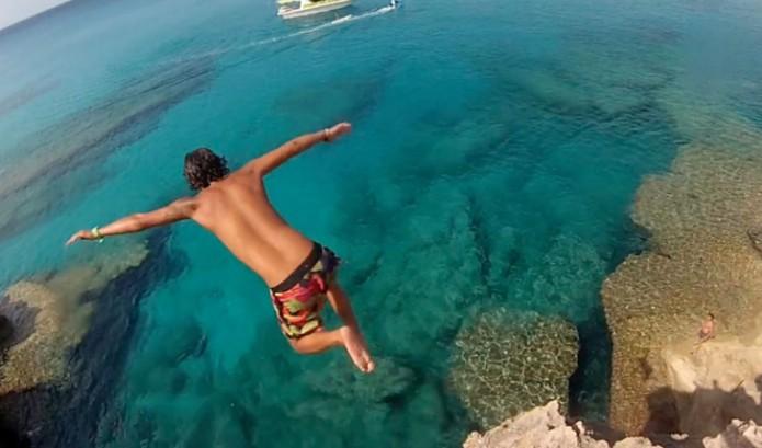 Rots springen op Mallorca